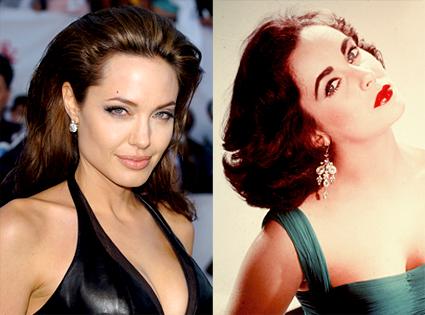 Angelina Jolie as Elizabeth Taylor